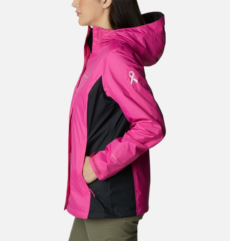 Tested Tough in Pink™ Rain Jacket II | 696 | XXL Women's Tested Tough in Pink™ Rain Jacket II, Pink Ice, Black, a1