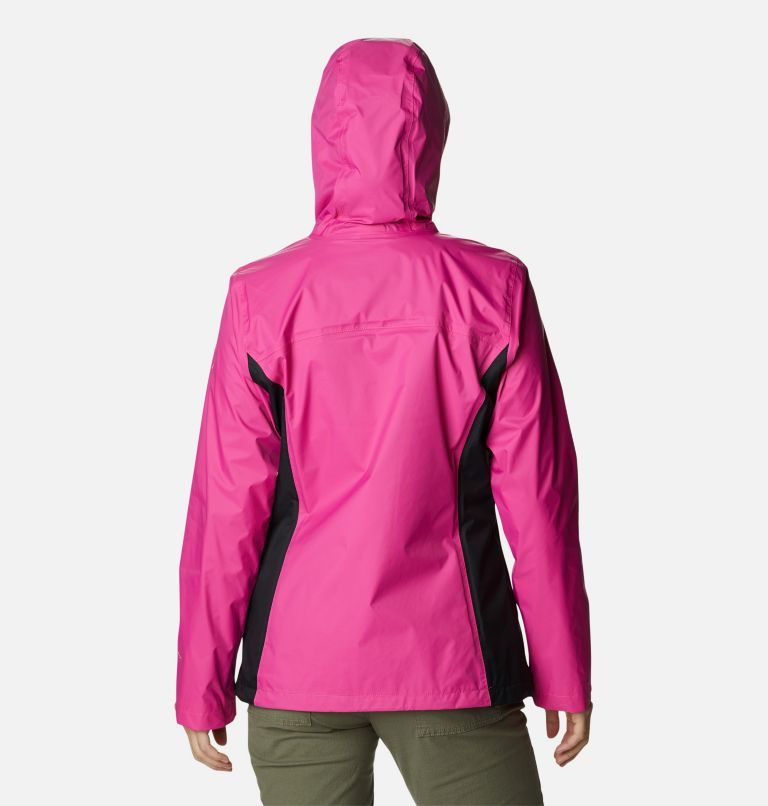 Tested Tough in Pink™ Rain Jacket II | 696 | XXL Women's Tested Tough in Pink™ Rain Jacket II, Pink Ice, Black, back