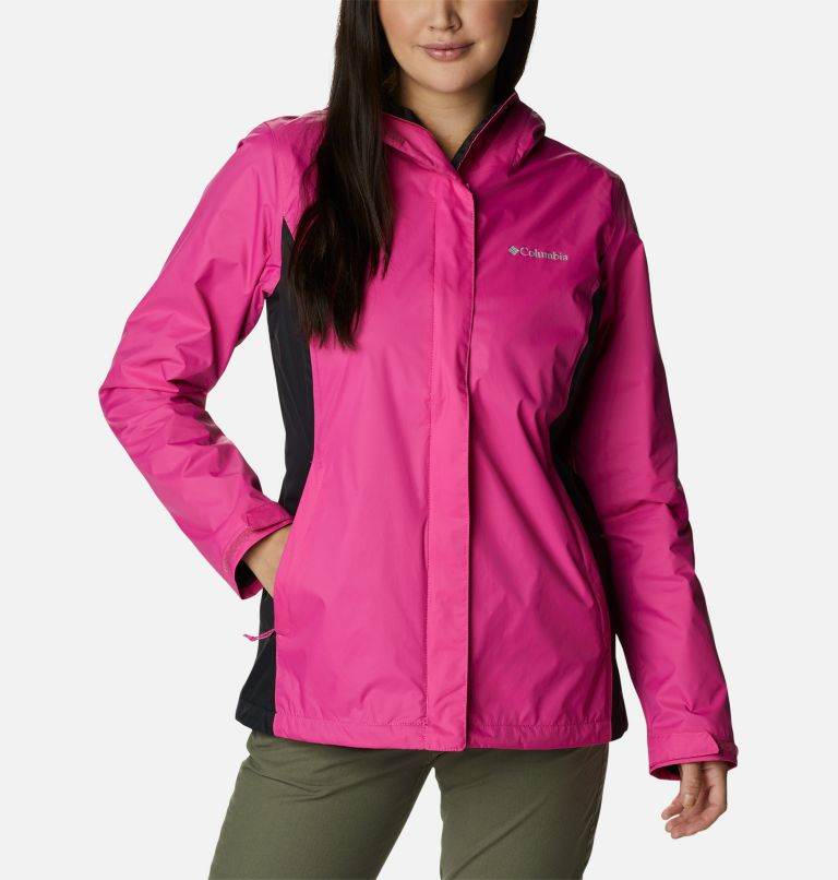 Tested Tough in Pink™ Rain Jacket II | 696 | XXL Women's Tested Tough in Pink™ Rain Jacket II, Pink Ice, Black, front