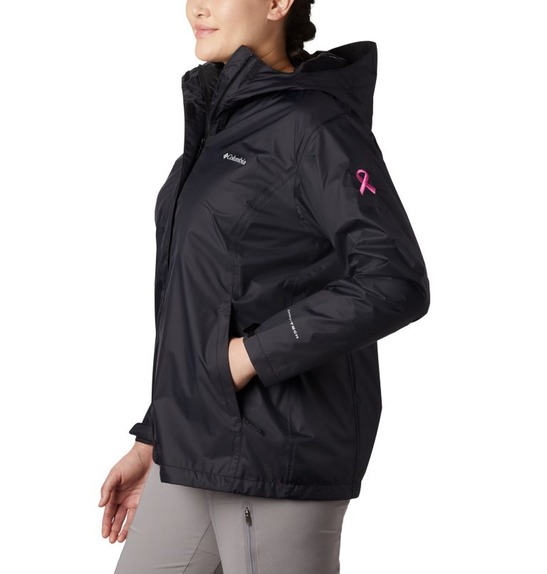 Women's Tested Tough in Pink™ Rain Jacket II - Plus Size Women's Tested Tough in Pink™ Rain Jacket II - Plus Size, a1
