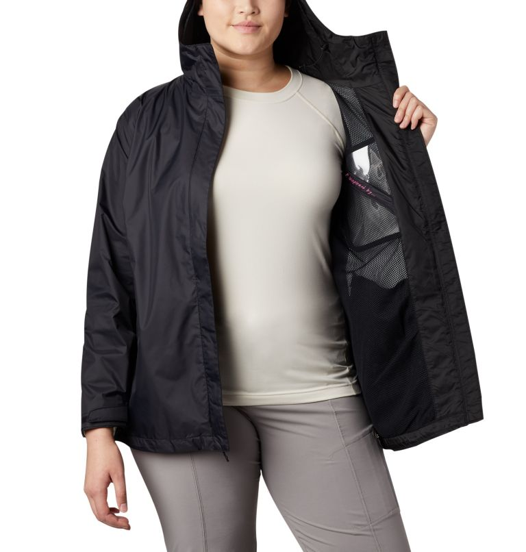 Women's Tested Tough in Pink™ Rain Jacket II - Plus Size Women's Tested Tough in Pink™ Rain Jacket II - Plus Size, a2