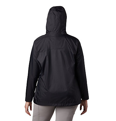 Women's Tested Tough in Pink™ Rain Jacket II - Plus Size Tested Tough in Pink™ Rain Jacket II | 011 | 1X, Black, back