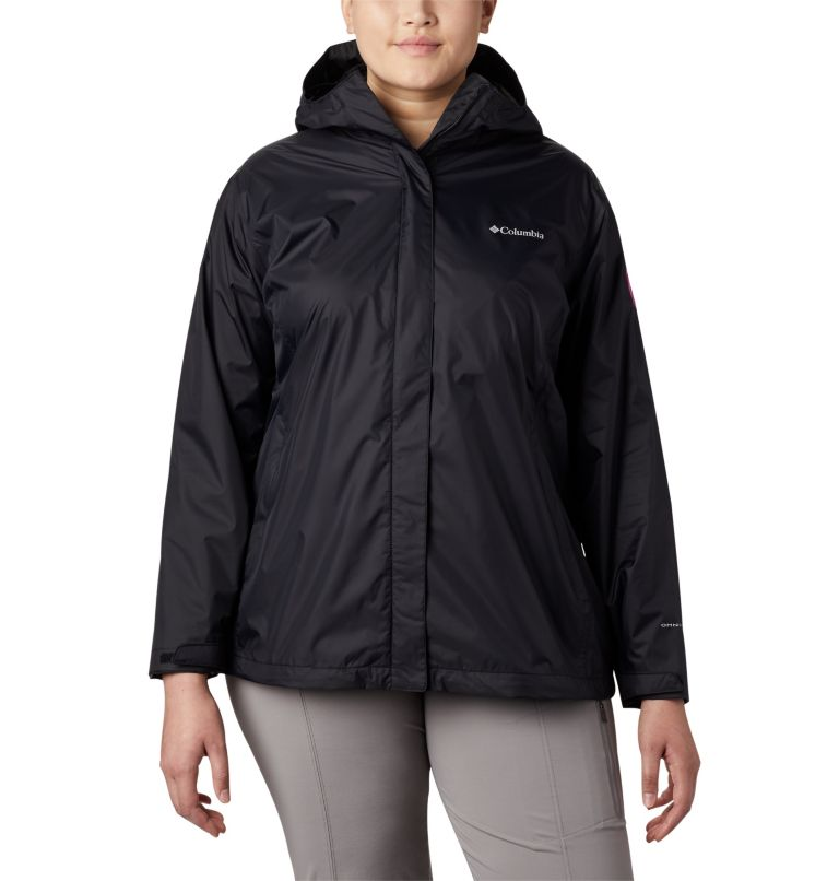 Women's Tested Tough in Pink™ Rain Jacket II - Plus Size Women's Tested Tough in Pink™ Rain Jacket II - Plus Size, front