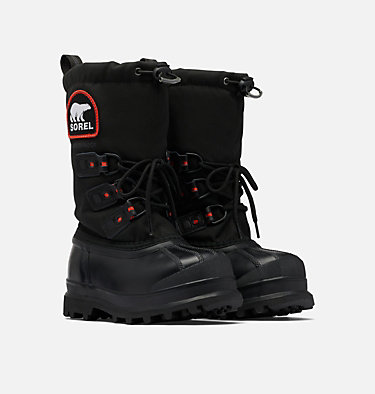 Big Kids' Glacier™ XT Boot YOUTH GLACIER™ XT | 010 | 1, Black, Red Quartz, 3/4 front