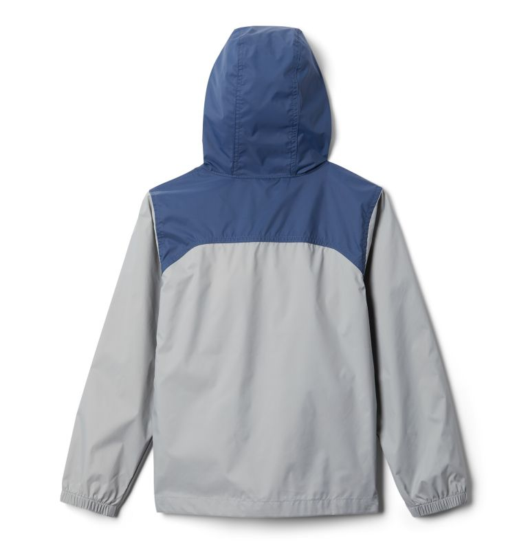 Glennaker™ Rain Jacket | 040 | L Boys' Glennaker™ Rain Jacket, Columbia Grey, Dark Mountain, back