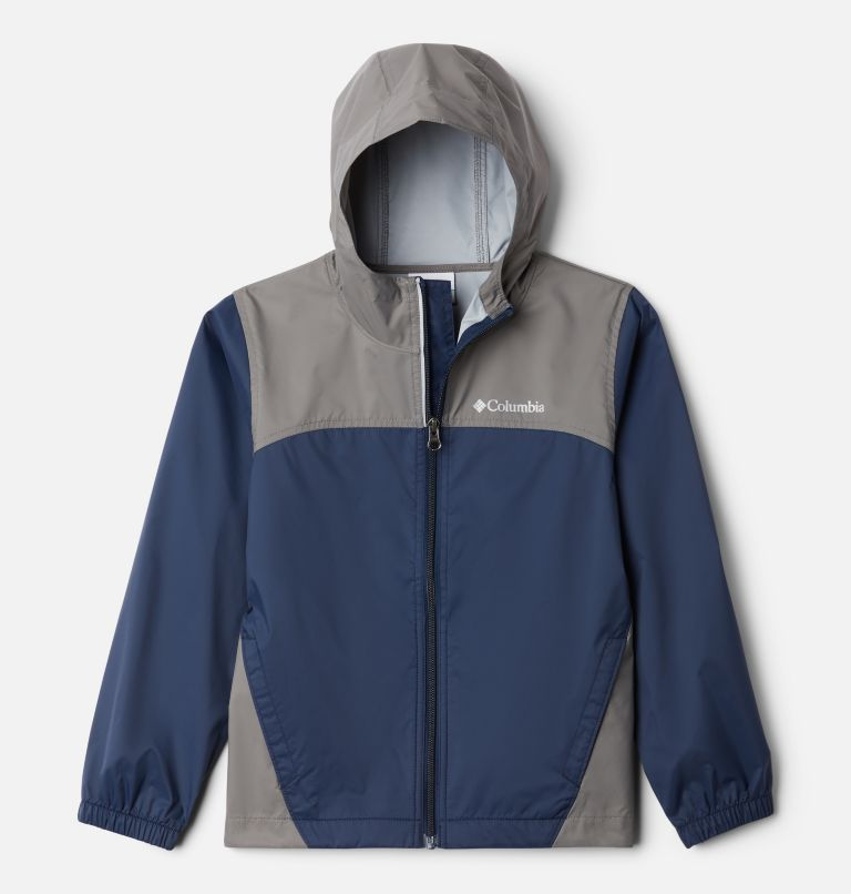 Glennaker™ Rain Jacket | 471 | XS Boys' Glennaker™ Rain Jacket, Collegiate Navy, City Grey, front