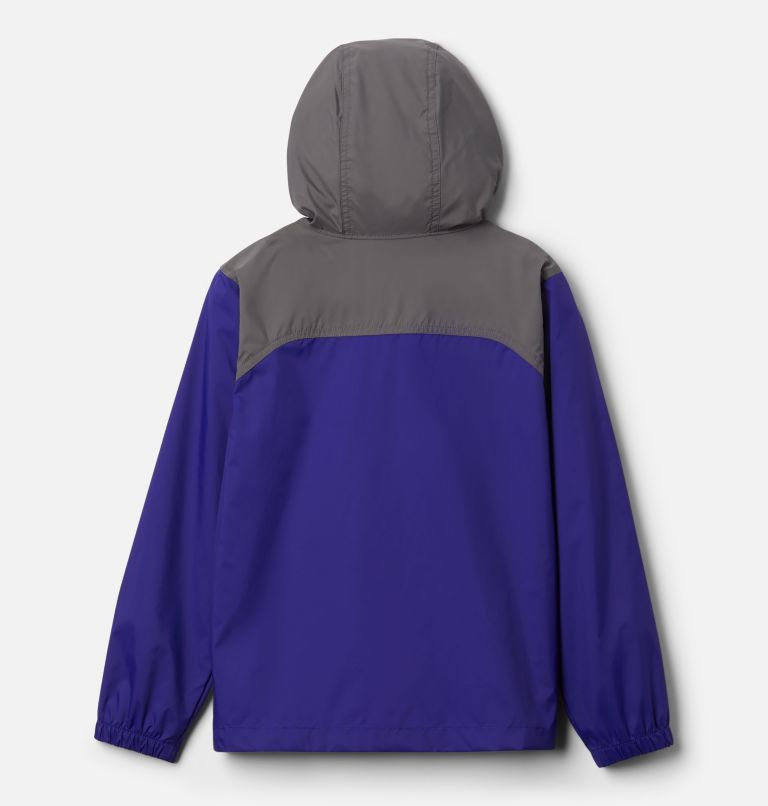 Glennaker™ Rain Jacket   503   M Boys' Glennaker™ Rain Jacket, Purple Quartz, City Grey, back