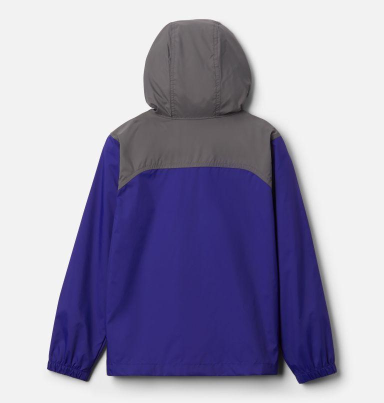 Glennaker™ Rain Jacket | 503 | S Boys' Glennaker™ Rain Jacket, Purple Quartz, City Grey, back