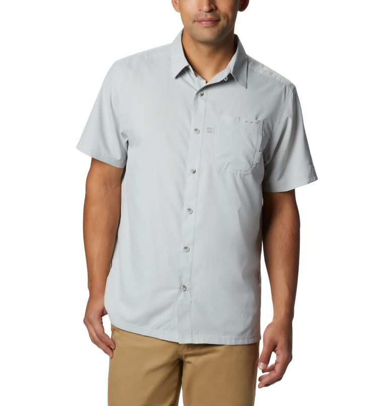 Slack Tide™ Camp Shirt   019   S Men's PFG Slack Tide™ Camp Shirt, Cool Grey, front