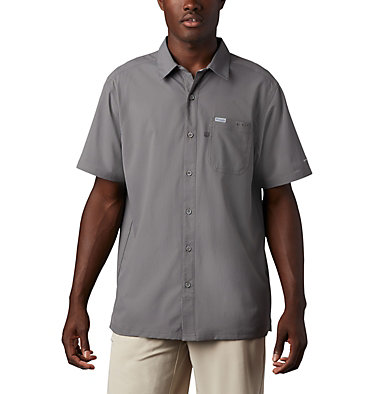 Men's PFG Slack Tide™ Camp Shirt Slack Tide™ Camp Shirt | 332 | M, City Grey, front