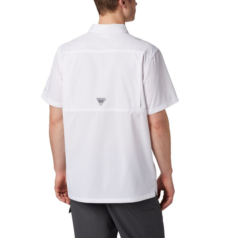Slack Tide™ Camp Shirt | 100 | S Men's PFG Slack Tide™ Camp Shirt, White, back