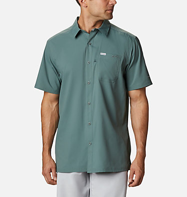 Men's PFG Slack Tide™ Camp Shirt Slack Tide™ Camp Shirt | 707 | XS, Pond, front