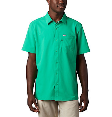 Men's PFG Slack Tide™ Camp Shirt Slack Tide™ Camp Shirt | 707 | XS, Dark Lime, front