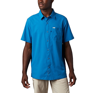 Men's PFG Slack Tide™ Camp Shirt Slack Tide™ Camp Shirt | 707 | XS, Dark Pool, front