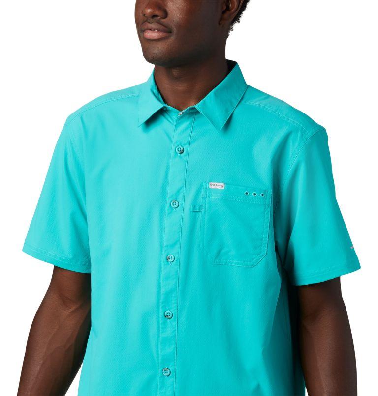 Slack Tide™ Camp Shirt | 454 | S Men's PFG Slack Tide™ Camp Shirt, Bright Aqua, a2
