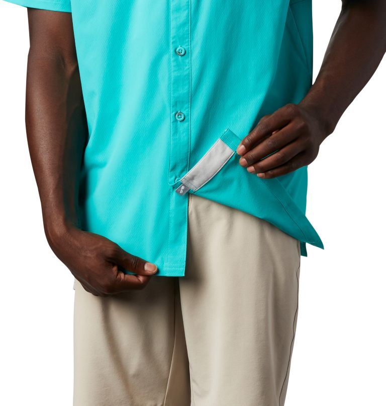 Slack Tide™ Camp Shirt   454   XXL Men's PFG Slack Tide™ Camp Shirt, Bright Aqua, a4