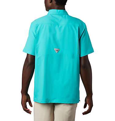 Men's PFG Slack Tide™ Camp Shirt Slack Tide™ Camp Shirt | 454 | L, Bright Aqua, back
