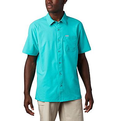 Men's PFG Slack Tide™ Camp Shirt Slack Tide™ Camp Shirt | 454 | L, Bright Aqua, front
