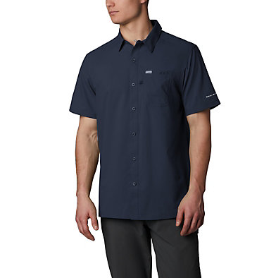 Men's PFG Slack Tide™ Camp Shirt Slack Tide™ Camp Shirt | 707 | XS, Collegiate Navy, front
