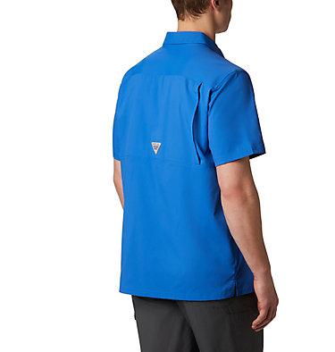 Men's PFG Slack Tide™ Camp Shirt Slack Tide™ Camp Shirt | 454 | L, Vivid Blue, back