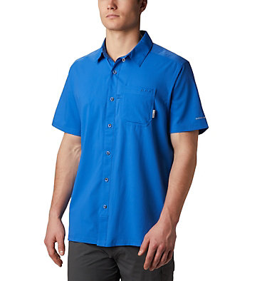 Men's PFG Slack Tide™ Camp Shirt Slack Tide™ Camp Shirt | 707 | XS, Vivid Blue, front