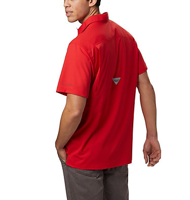 Men's PFG Slack Tide™ Camp Shirt Slack Tide™ Camp Shirt | 707 | XS, Red Spark, back