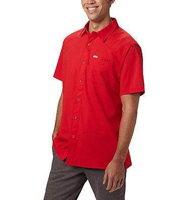 Men's PFG Slack Tide™ Camp Shirt Slack Tide™ Camp Shirt | 707 | XS, Red Spark, front