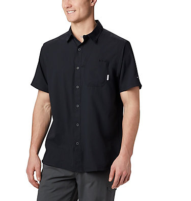 Men's PFG Slack Tide™ Camp Shirt - Tall Slack Tide™ Camp Shirt | 486 | 2XT, Black, front