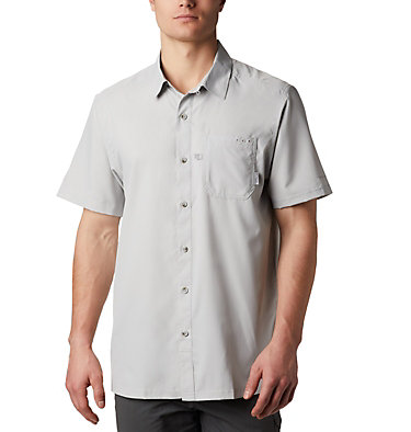 Men's PFG Slack Tide™ Camp Shirt - Tall Slack Tide™ Camp Shirt | 486 | 2XT, Cool Grey, front