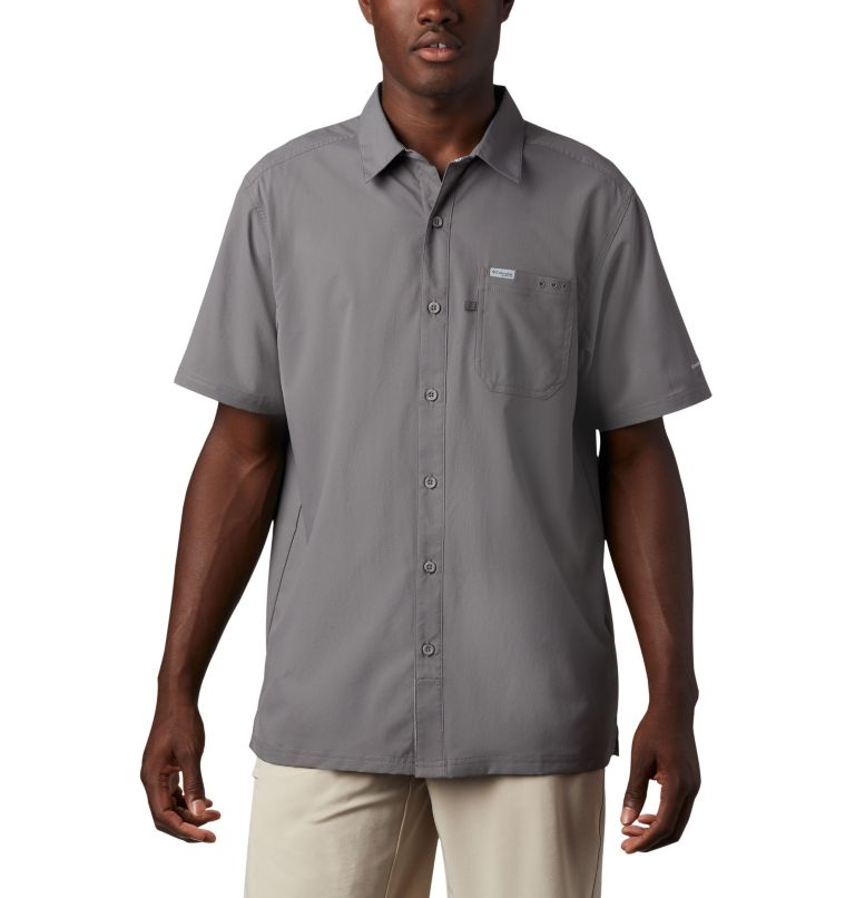 Slack Tide™ Camp Shirt | 023 | 3XT Men's PFG Slack Tide™ Camp Shirt - Tall, City Grey, front