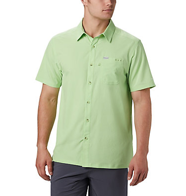 Men's PFG Slack Tide™ Camp Shirt - Tall Slack Tide™ Camp Shirt | 486 | 2XT, Jade Lime, front