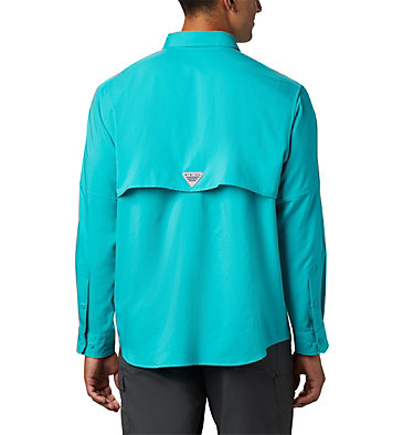 Men's PFG Blood and Guts™ III Long Sleeve Woven Shirt Blood and Guts™ III LS Woven Shirt | 967 | XS, Bright Aqua, back
