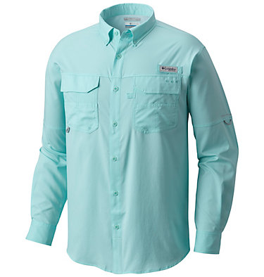 Men's PFG Blood and Guts™ III Long Sleeve Woven Shirt Blood and Guts™ III LS Woven Shirt | 967 | XS, Gulf Stream, front