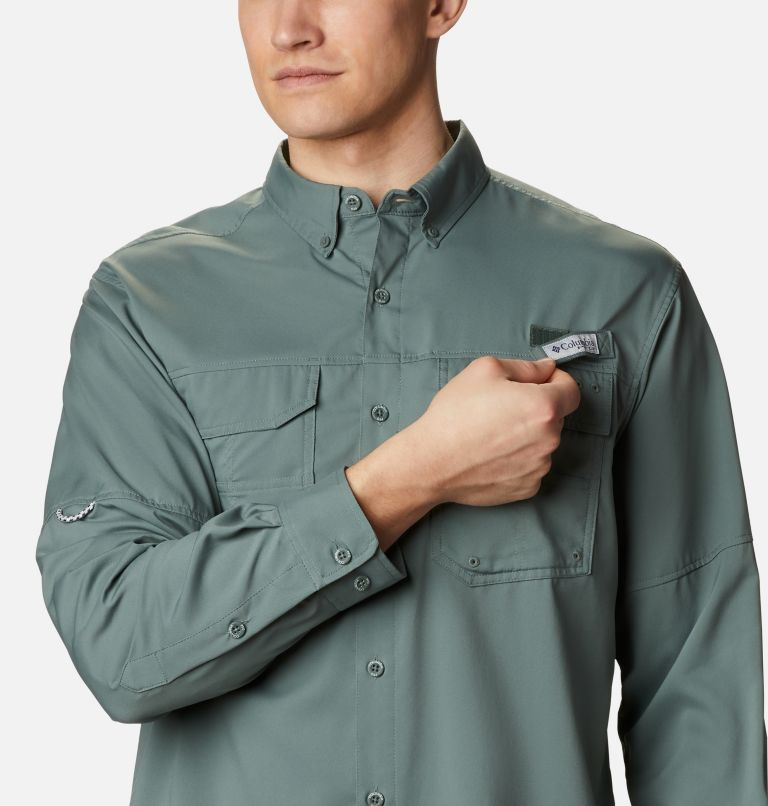 Blood and Guts™ III LS Woven Shirt | 967 | XS Men's PFG Blood and Guts™ III Long Sleeve Woven Shirt, Pond, a2