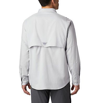 Men's PFG Blood and Guts™ III Long Sleeve Woven Shirt - Big Blood and Guts™ III LS Woven Shirt | 967 | 5X, Cool Grey, back