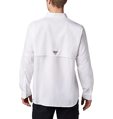 Men's PFG Blood and Guts™ III Long Sleeve Woven Shirt - Big Blood and Guts™ III LS Woven Shirt | 967 | 5X, White, back