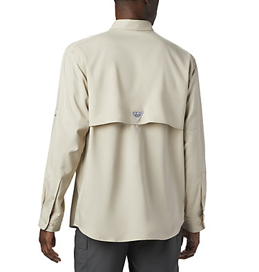 Men's PFG Blood and Guts™ III Long Sleeve Woven Shirt - Big Blood and Guts™ III LS Woven Shirt | 967 | 5X, Fossil, back
