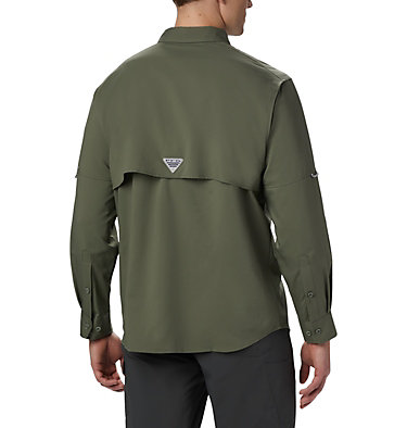 Men's PFG Blood and Guts™ III Long Sleeve Woven Shirt - Big Blood and Guts™ III LS Woven Shirt | 967 | 5X, Cypress, back
