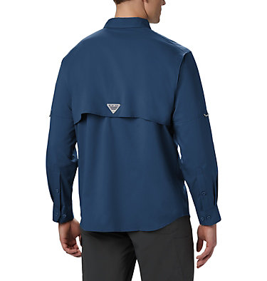 Men's PFG Blood and Guts™ III Long Sleeve Woven Shirt - Big Blood and Guts™ III LS Woven Shirt | 967 | 5X, Carbon, back