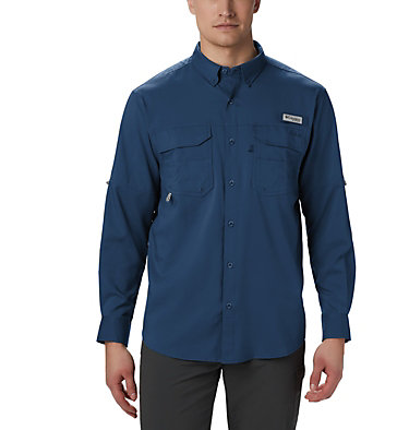Men's PFG Blood and Guts™ III Long Sleeve Woven Shirt - Big Blood and Guts™ III LS Woven Shirt | 967 | 5X, Carbon, front