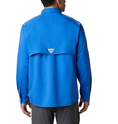 Men's PFG Blood and Guts™ III Long Sleeve Woven Shirt - Big Blood and Guts™ III LS Woven Shirt | 967 | 5X, Vivid Blue, back