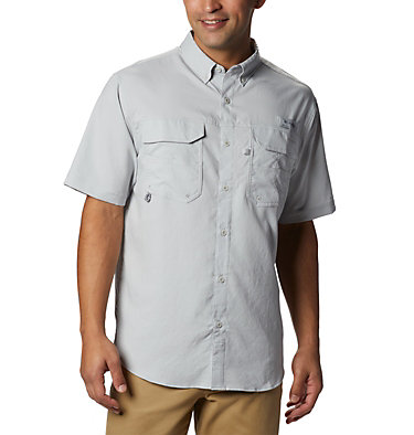 Men's PFG Blood and Guts™ III Short Sleeve Woven Shirt Blood and Guts™ III Short Sleeve Woven | 967 | XS, Cool Grey, front
