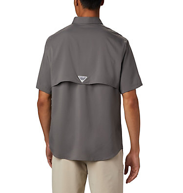 Men's PFG Blood and Guts™ III Short Sleeve Woven Shirt Blood and Guts™ III Short Sleeve Woven | 967 | XS, City Grey, back