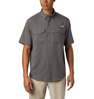 Men's PFG Blood and Guts™ III Short Sleeve Woven Shirt Blood and Guts™ III Short Sleeve Woven | 967 | XS, City Grey, front