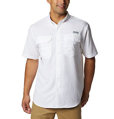 Men's PFG Blood and Guts™ III Short Sleeve Woven Shirt Blood and Guts™ III Short Sleeve Woven | 967 | XS, White, front