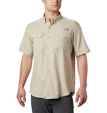 Men's PFG Blood and Guts™ III Short Sleeve Woven Shirt Blood and Guts™ III Short Sleeve Woven | 967 | XS, Fossil, front