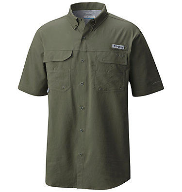 Men's PFG Blood and Guts™ III Short Sleeve Woven Shirt Blood and Guts™ III Short Sleeve Woven | 967 | XS, Cypress, front