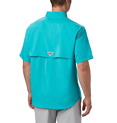 Men's PFG Blood and Guts™ III Short Sleeve Woven Shirt Blood and Guts™ III Short Sleeve Woven | 967 | XS, Bright Aqua, back