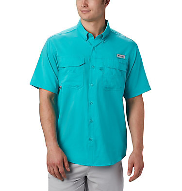 Men's PFG Blood and Guts™ III Short Sleeve Woven Shirt Blood and Guts™ III Short Sleeve Woven | 967 | XS, Bright Aqua, front