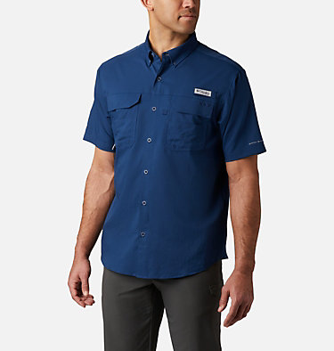 Men's PFG Blood and Guts™ III Short Sleeve Woven Shirt Blood and Guts™ III Short Sleeve Woven | 967 | XS, Carbon, front